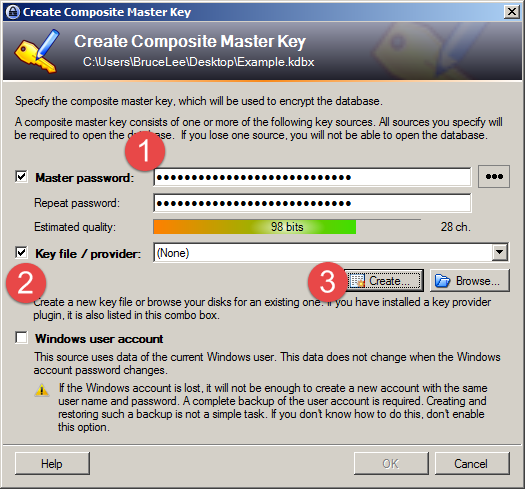 Securing your KeePass database