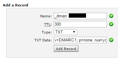 Adding the last DNS record.